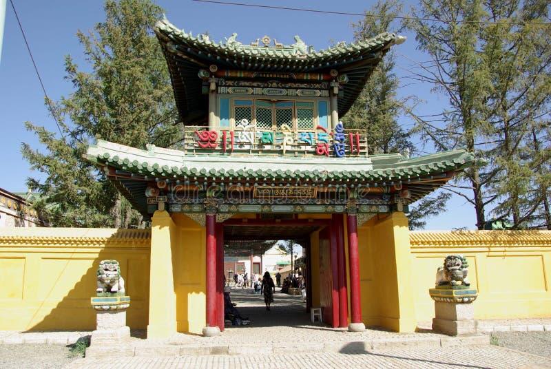 Gandan monastery, Mongolia stock photo
