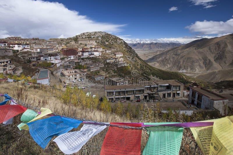 Ganden Monastery in Tibet - China royalty free stock photo