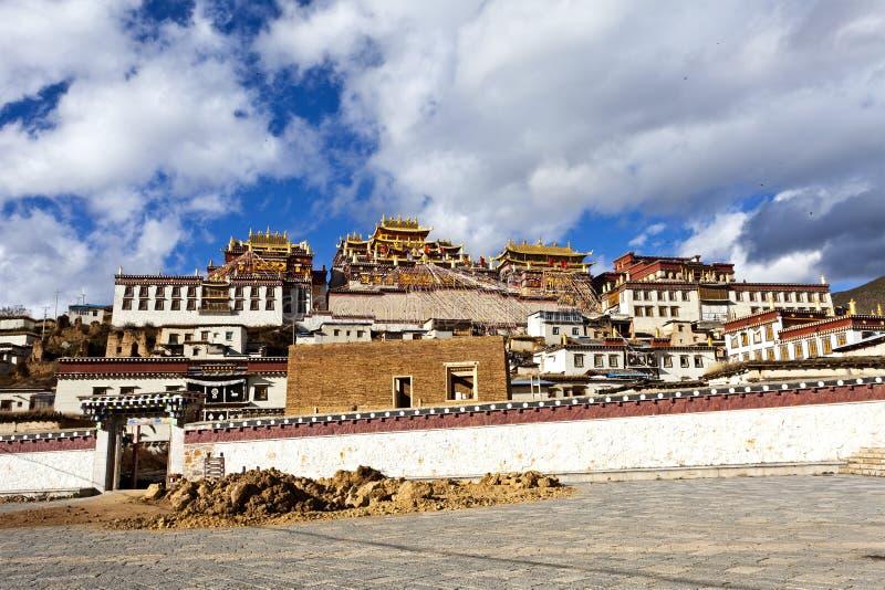 Ganden Sumtseling Kloster in Shangrila, China. lizenzfreies stockbild