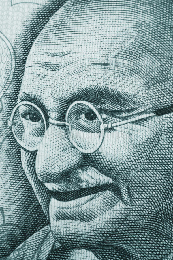 gandhi arkivbilder