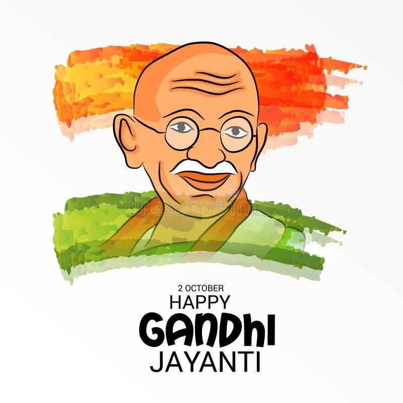 Gandhi feliz Jayanti ilustração do vetor