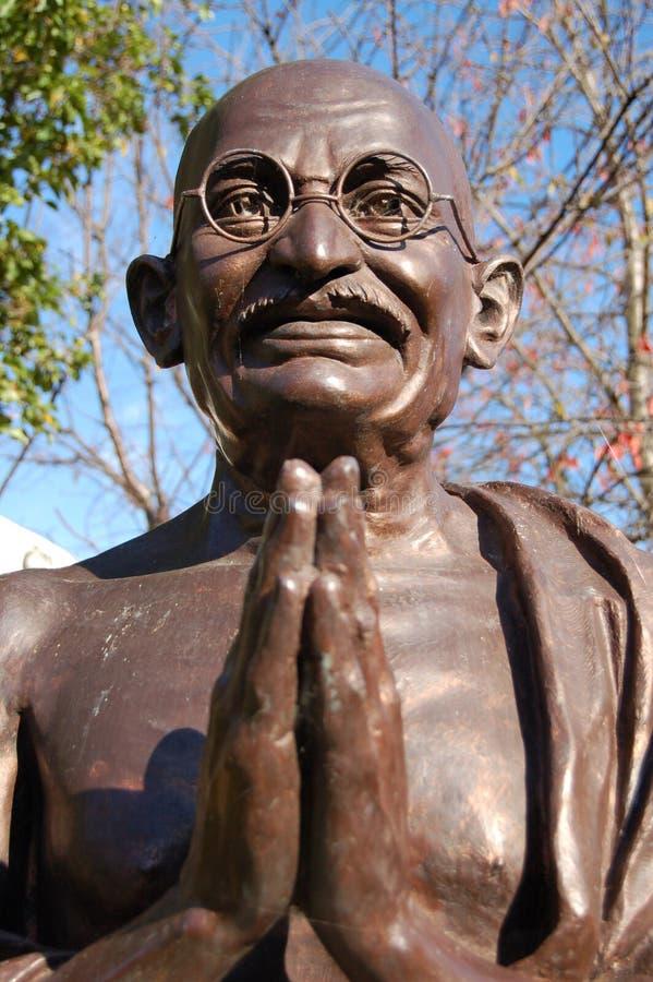 gandhi mahatma雕象 免版税图库摄影