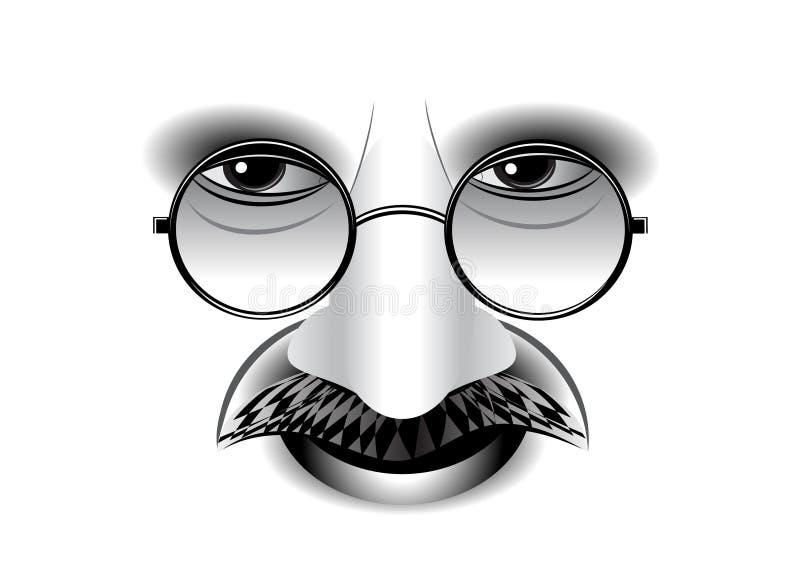 Gandhi. stock illustration