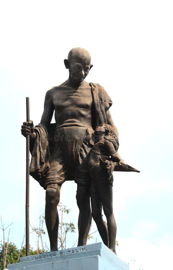Gandhi staty arkivbild