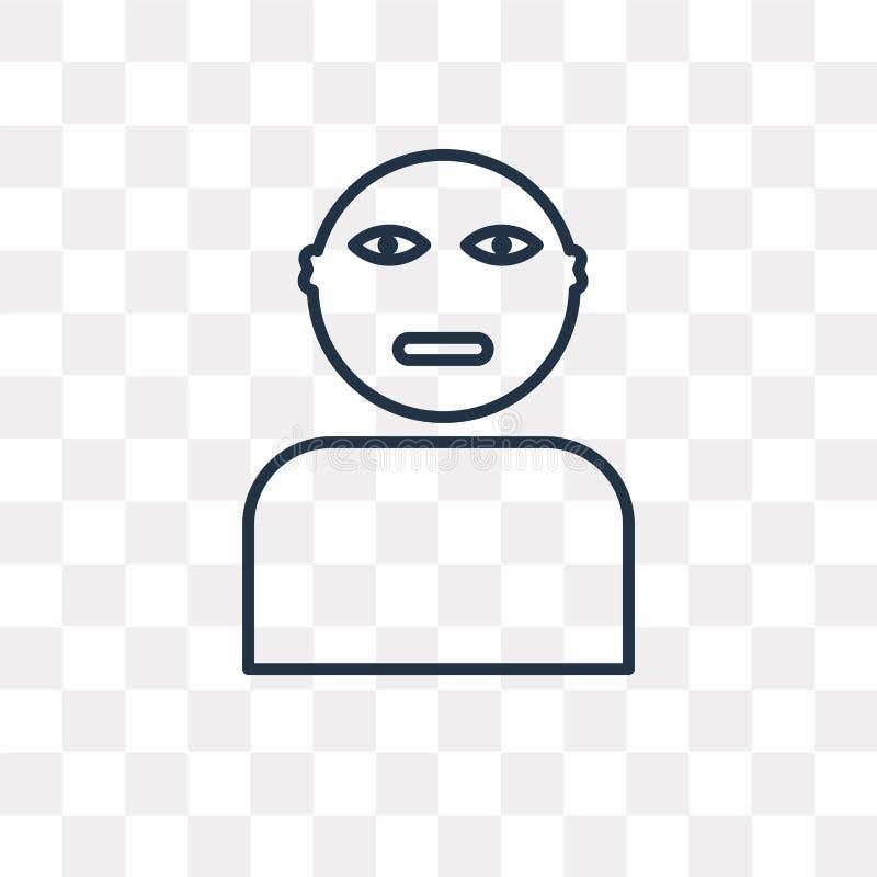 Gandhi vectordiepictogram op transparante achtergrond, lineair GA wordt geïsoleerd royalty-vrije illustratie