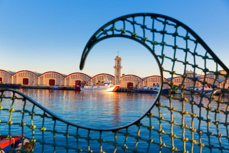 Gandia havenpuerto Valencia in Mediterraan Spanje stock afbeeldingen