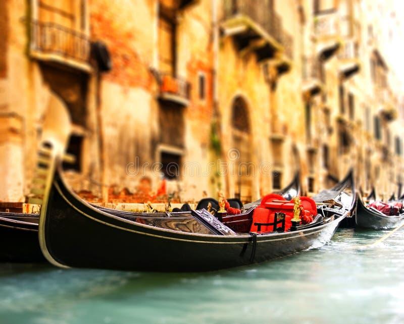 Gandola tradicional de Venecia imágenes de archivo libres de regalías