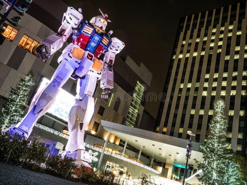 Gandum alla notte di Odaiba fotografia stock libera da diritti