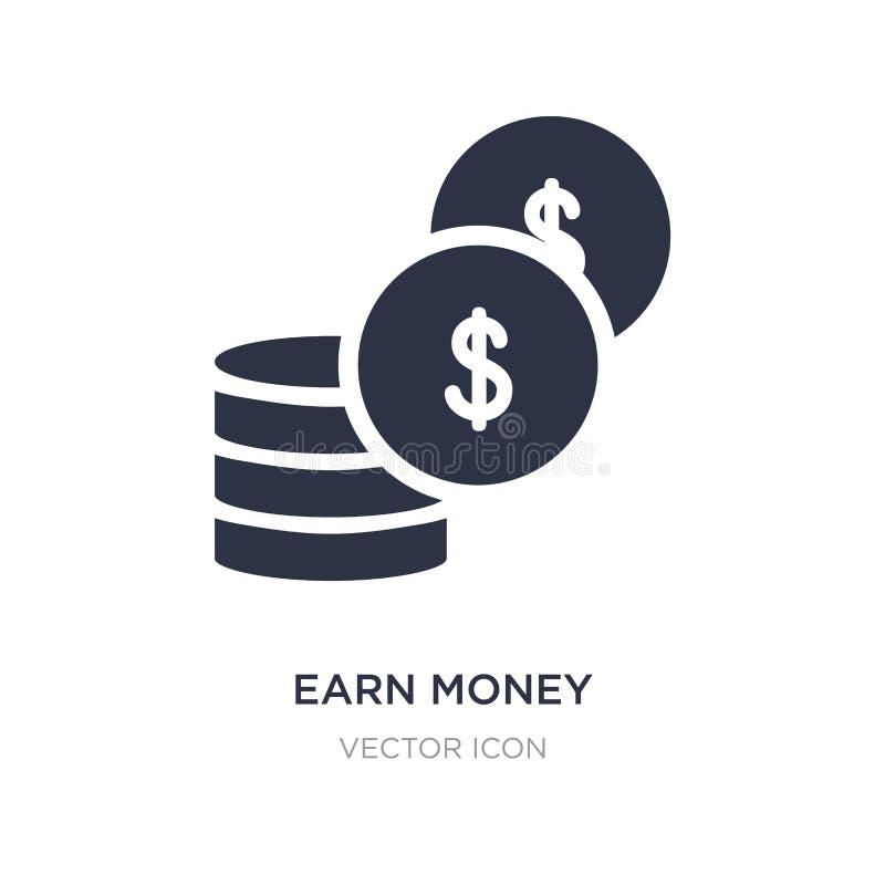 gane el icono del dinero en el fondo blanco Ejemplo simple del elemento del concepto de UI ilustración del vector