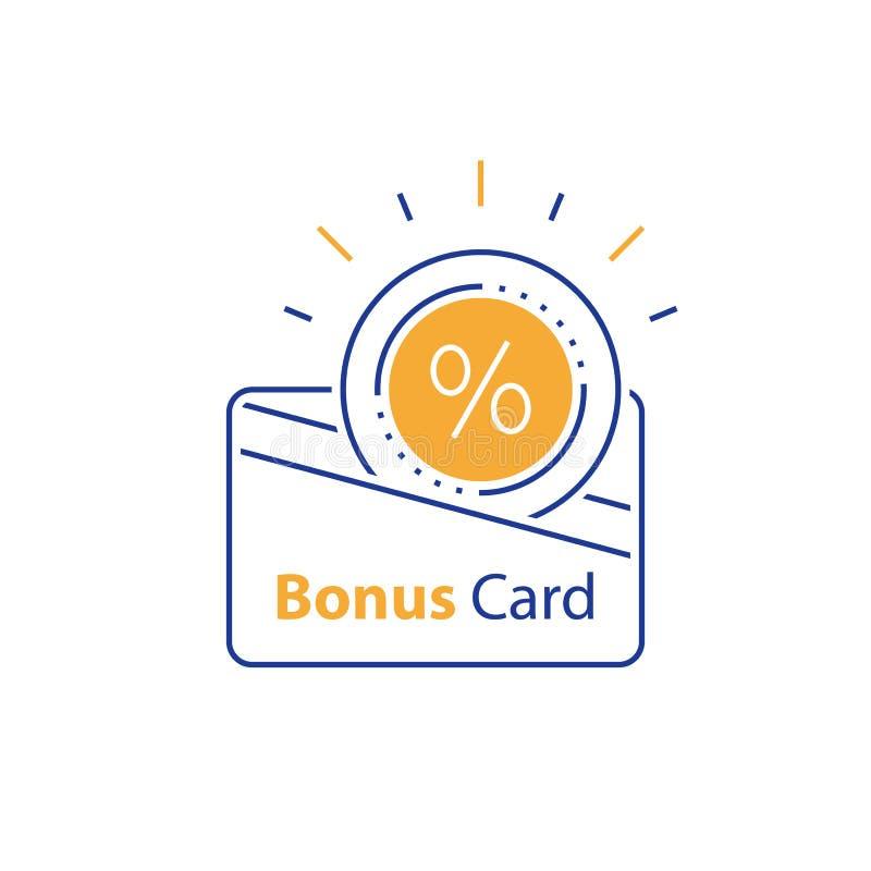Gane la recompensa, tarjeta de la lealtad, regalo incentivo, recogiendo prima, las gratificaciones de las compras, vale del descu libre illustration