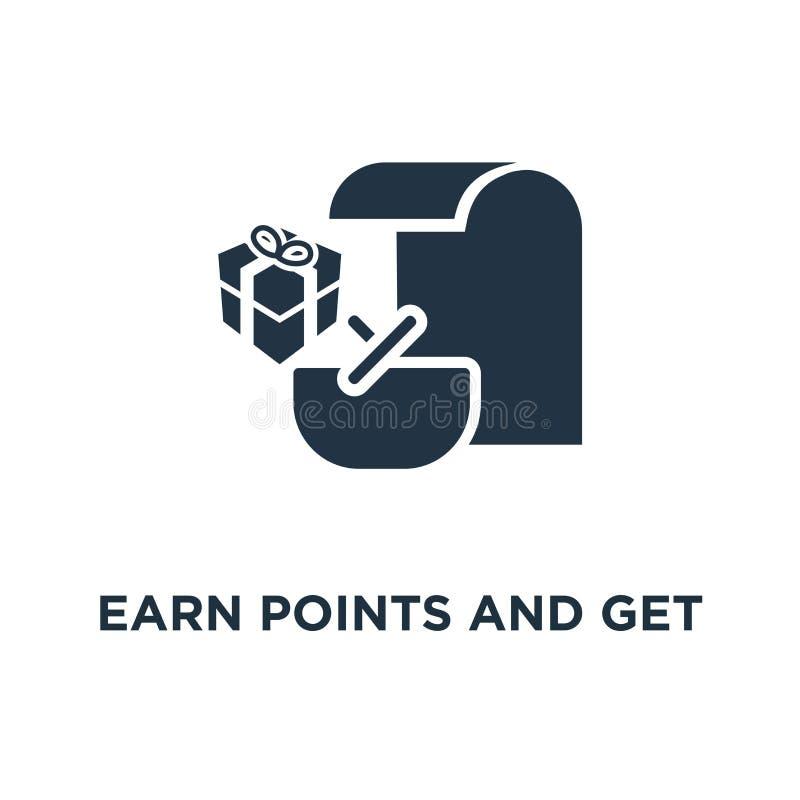 gane los puntos y consiga el icono de la recompensa diseño del símbolo del concepto del programa de la lealtad, márketing, pequeñ stock de ilustración