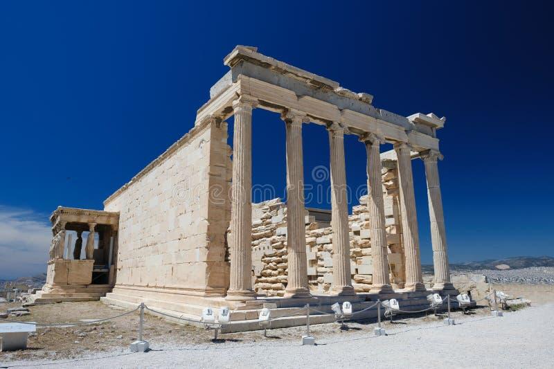 Ganeczek Erechtheion wuth kariatydy, akropol zdjęcia royalty free