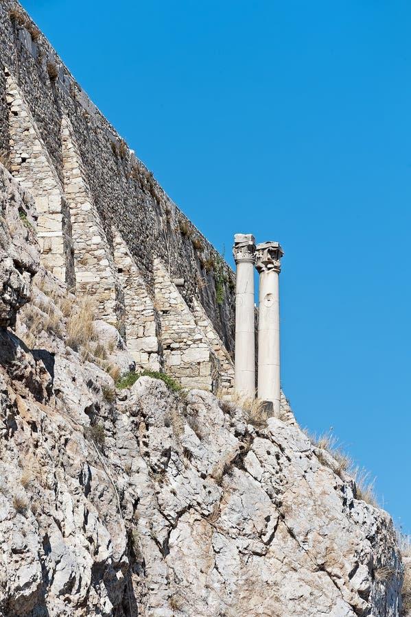 Ganeczek kariatyda akropol Ateny w Grecja zdjęcia stock