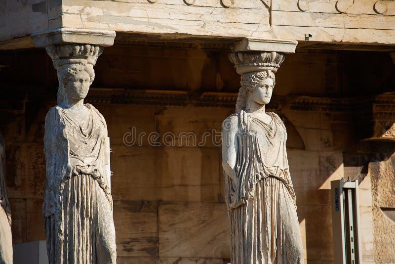 Ganeczek kariatydy, Ateny obrazy stock