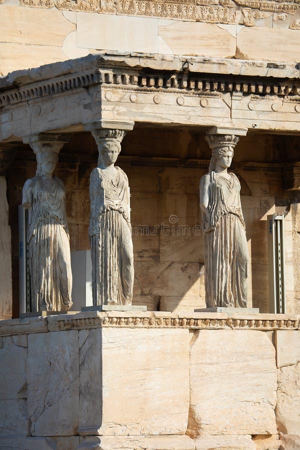 Ganeczek kariatydy, Ateny zdjęcie royalty free