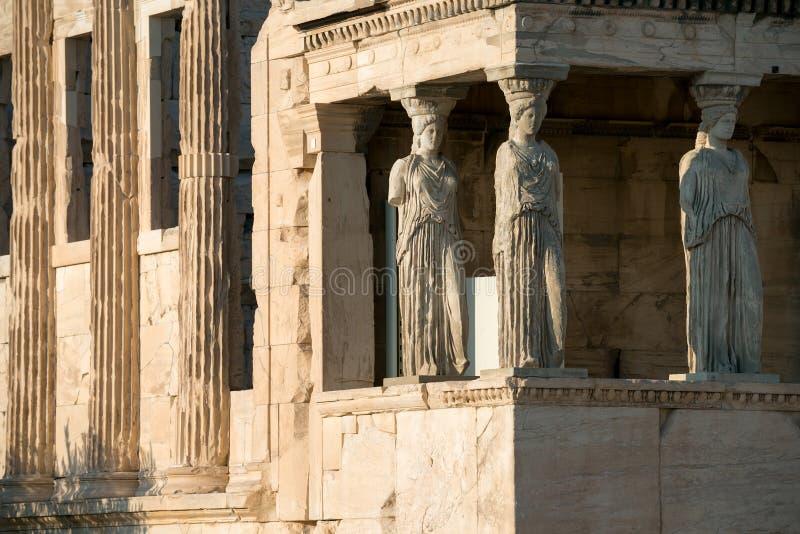 Ganeczek kariatydy, Erechtheion świątynia, akropol Ath fotografia stock