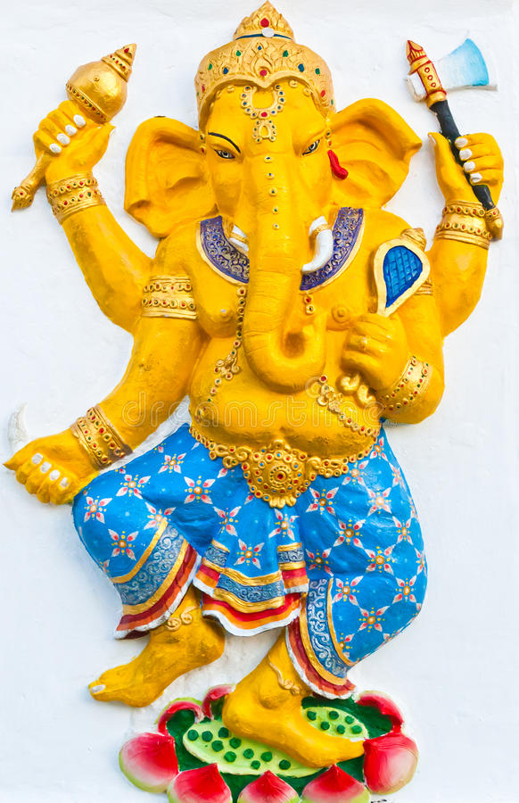 Ganesh è il dio dell'India fotografie stock