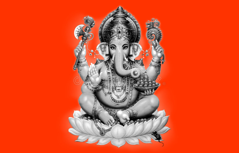 Ganesh royaltyfri illustrationer