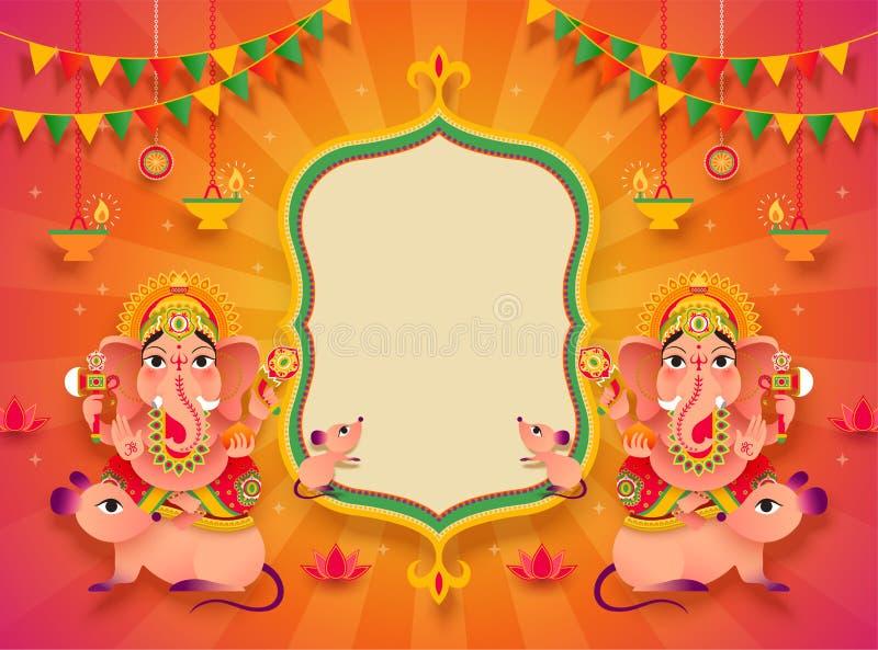 Ganesh Chaturthi background stock illustration