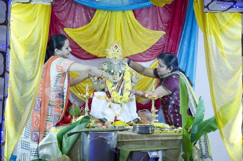 Ganesh Chaturthi Bangalore, Karnataka, Indien royaltyfri fotografi