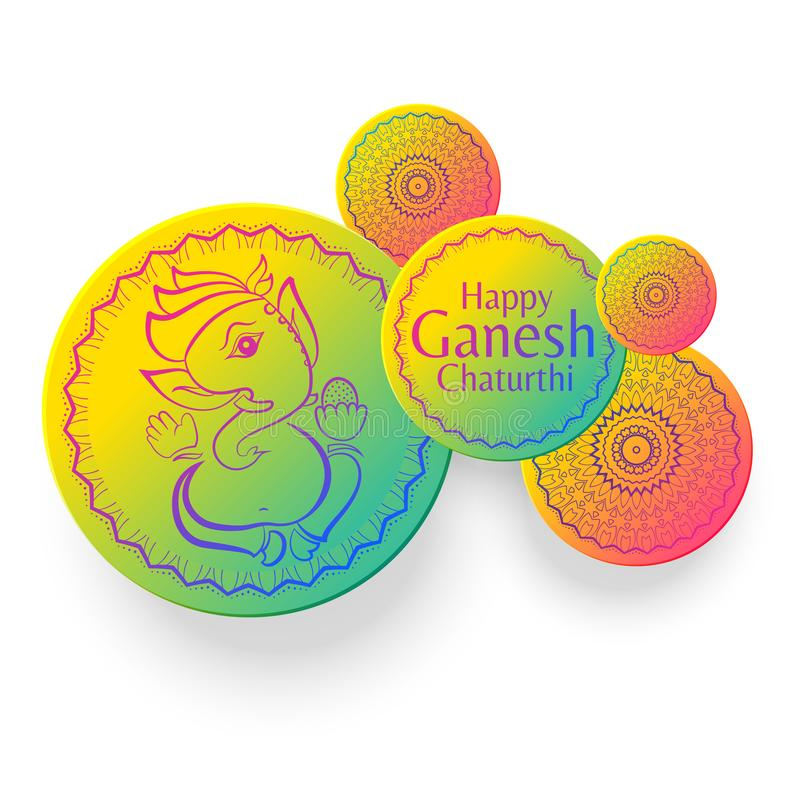 Ganesh chaturthi festival creative greeting design background. Vector vector illustration
