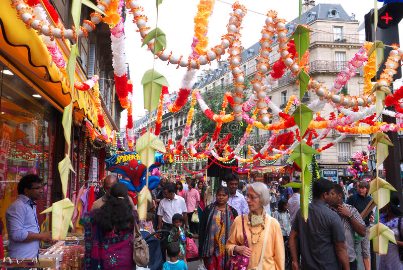 Ganesh Chaturthi Festival Paris France royalty-vrije stock foto