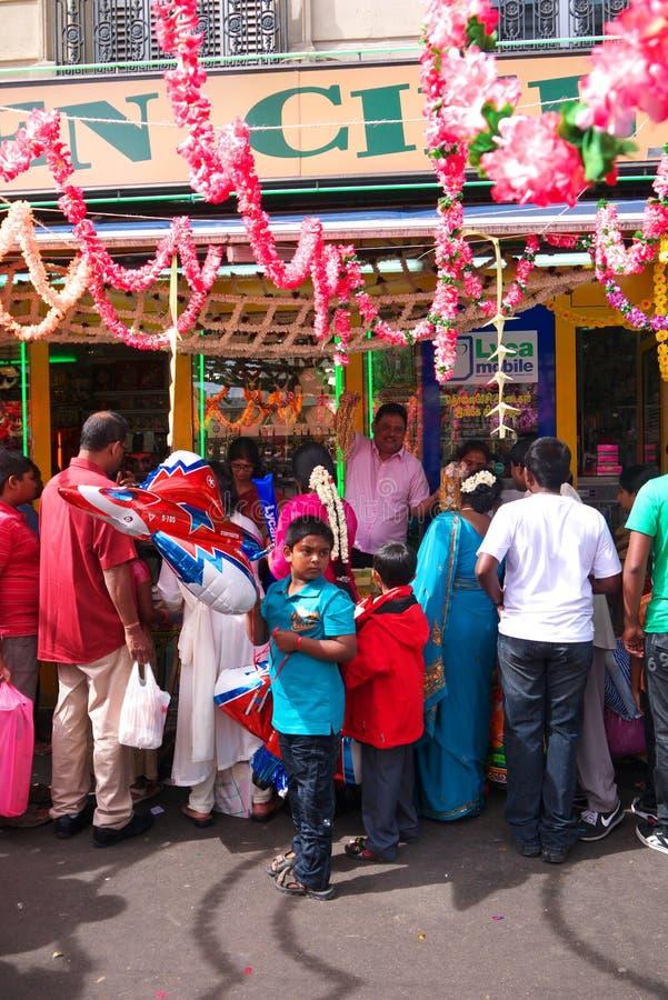 Ganesh Chaturthi Festival Paris France royalty-vrije stock afbeeldingen
