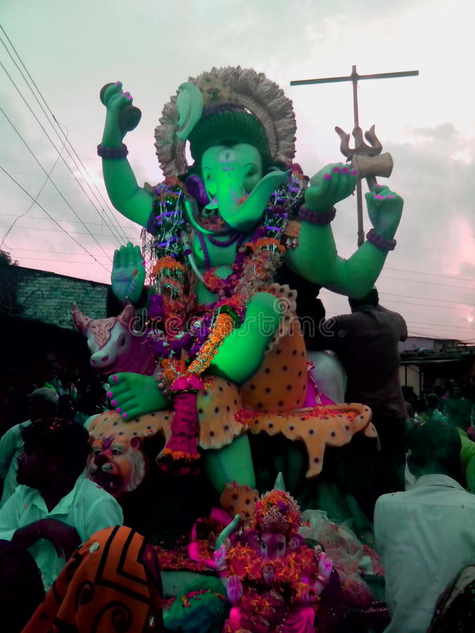 Ganesh chaturthifestival arkivbilder