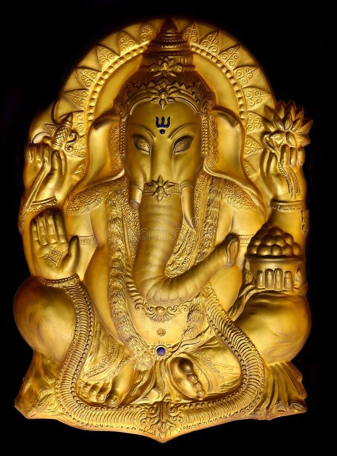 Ganesh do senhor ou estátua indiana ganapathy do deus imagem de stock