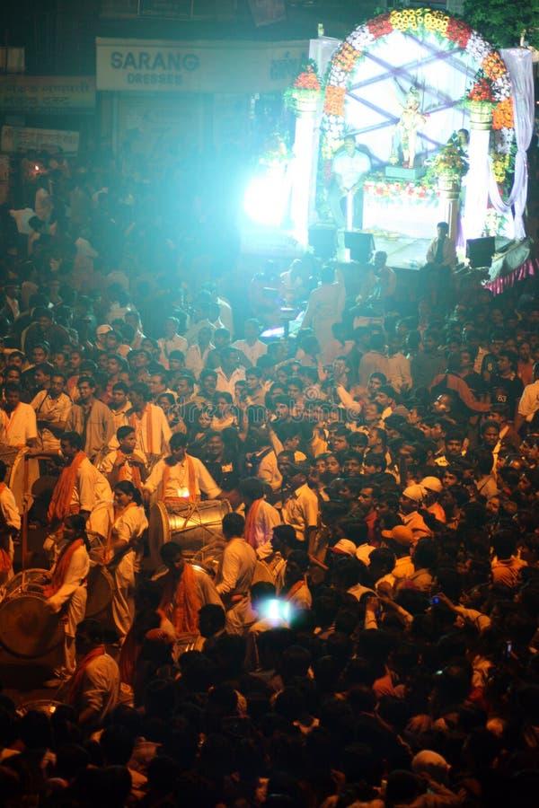 Ganesh Festival Crowds photo stock