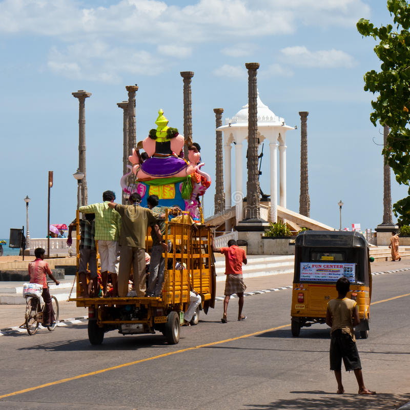 Download Ganesh Festival In Pondicherry Editorial Stock Image - Image: 19951444