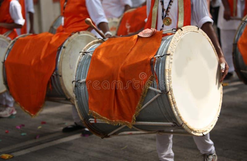 Ganesh festiwalu bębeny obrazy stock