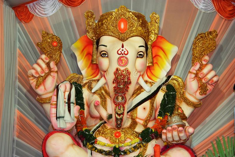 Ganesh. Hindu god ganesh with full decoration royalty free stock photography