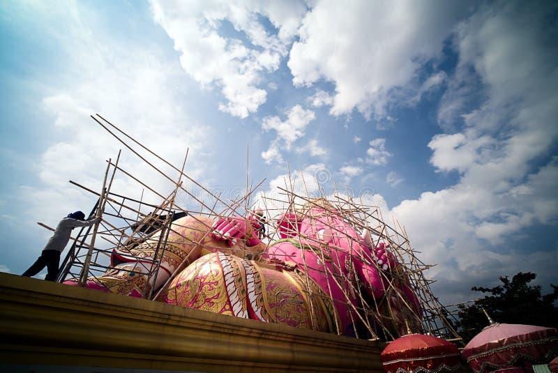 Ganesh Hindu God Statue cor-de-rosa fotos de stock