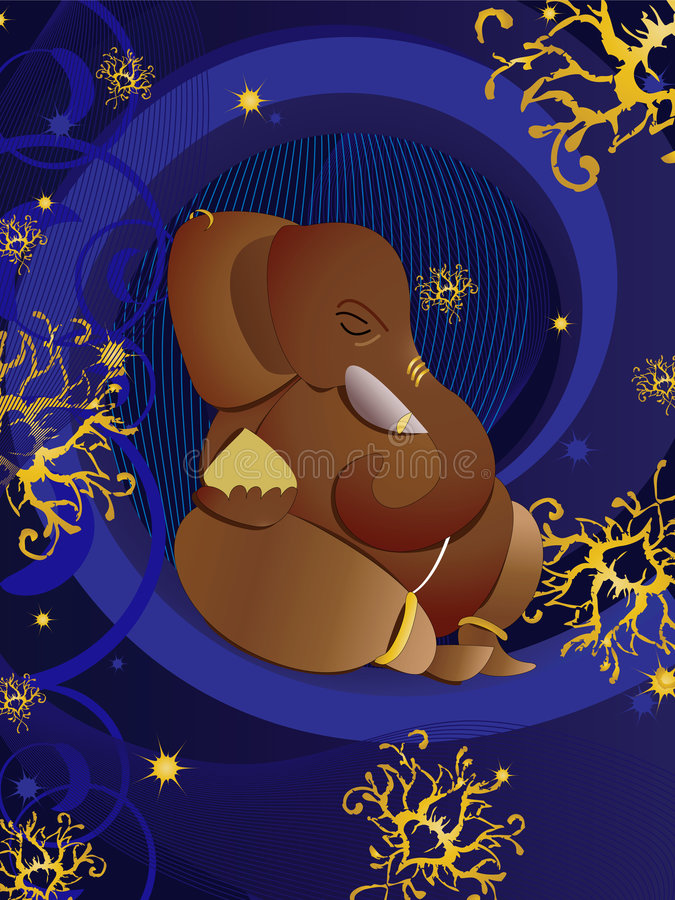 Ganesh indou de Dieu illustration stock