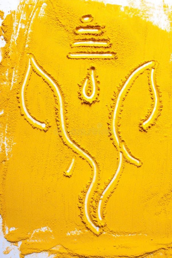 ganesh indyjski ji władyki tekstury turmeric zdjęcia royalty free