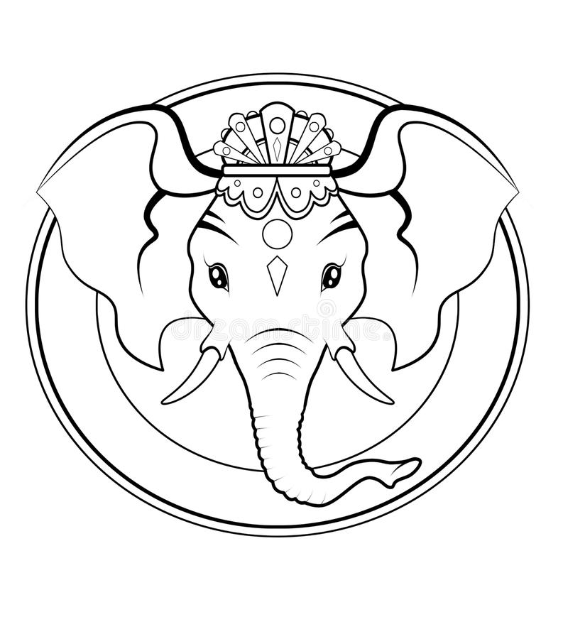 Download Ganesh Logo - BW Stock Photography - Image: 12037802