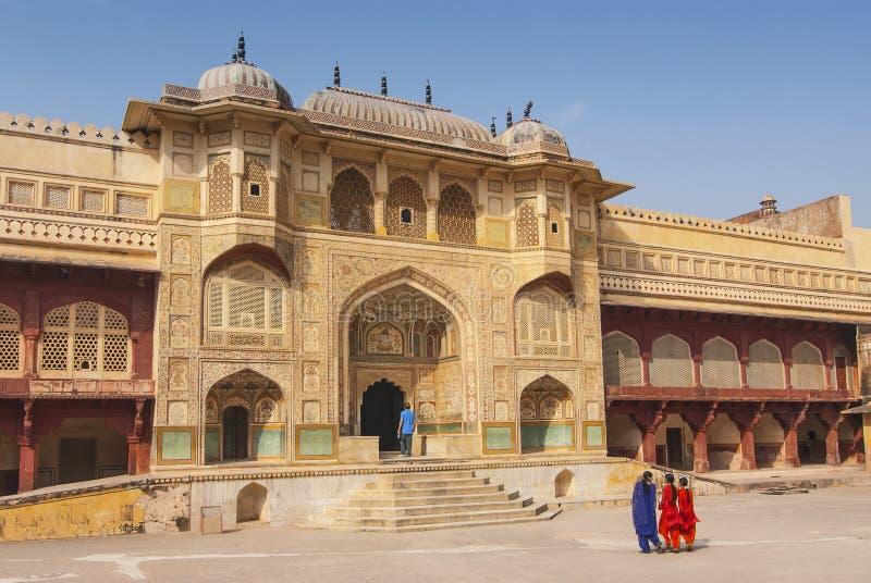 Ganesh Pol gateway, Amber Fort, Rajasthan, India.  stock images