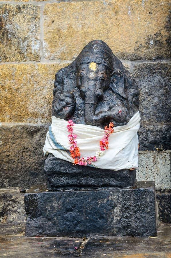 Ganesh statue in Brihadishwarar Temple. THANJAVUR, INDIA - FEBRUARY 13, 2013: Ganesh statue in Hindu Brihadishwarar Temple, Thanjavur, Tamil Nadu, India stock photo