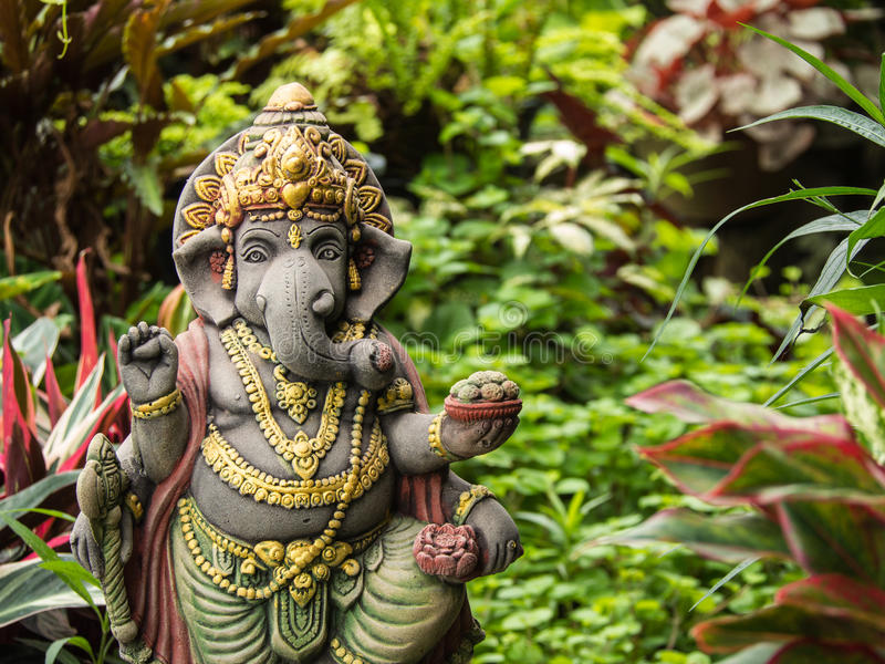 Download Ganesh Statue God Of Artistic Standing Stock Photo   Image Of  Garden, Luck: