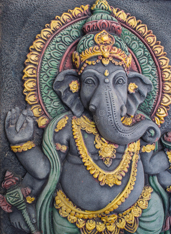 Ganesh Statue Radiates Prestige imagem de stock