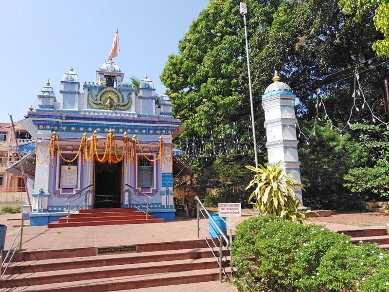 Ganesh Temple, Oude GOA, India stock foto's