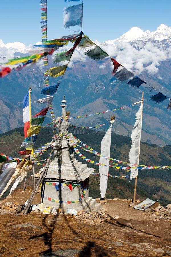 Ganesh z stupą Himal zdjęcie royalty free