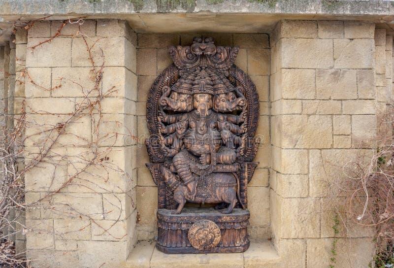 Ganesha雕塑 免版税图库摄影