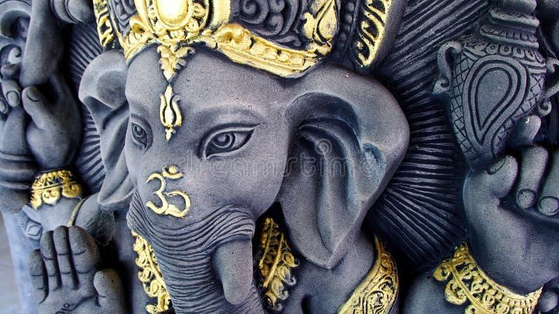 Ganesha雕象 免版税图库摄影