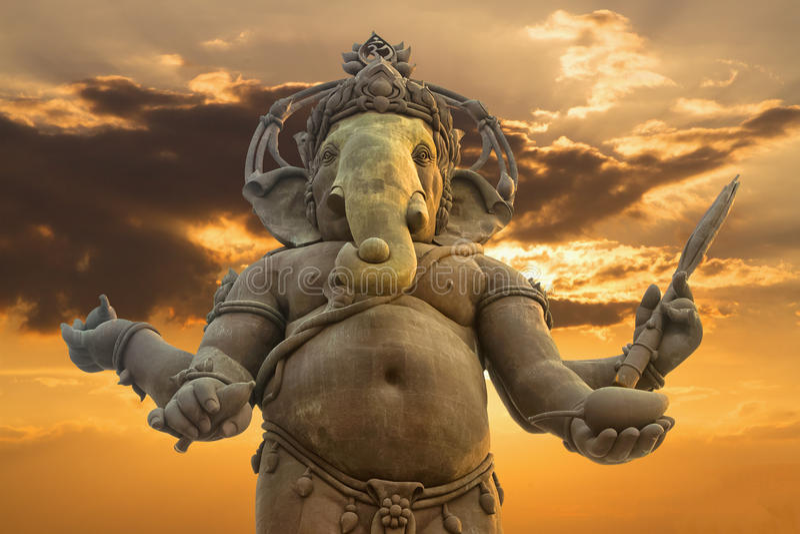 Ganesha,印度上帝雕象 免版税库存图片