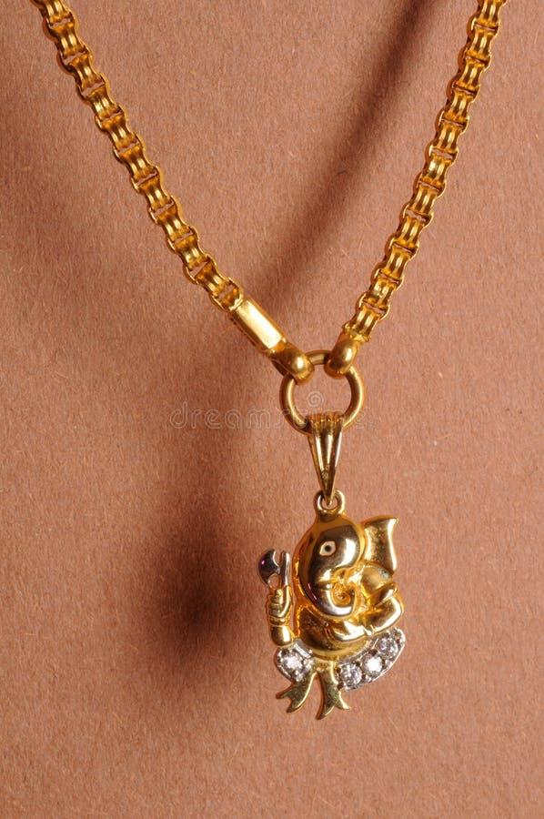 Ganesha лорда золота цепное стоковые изображения