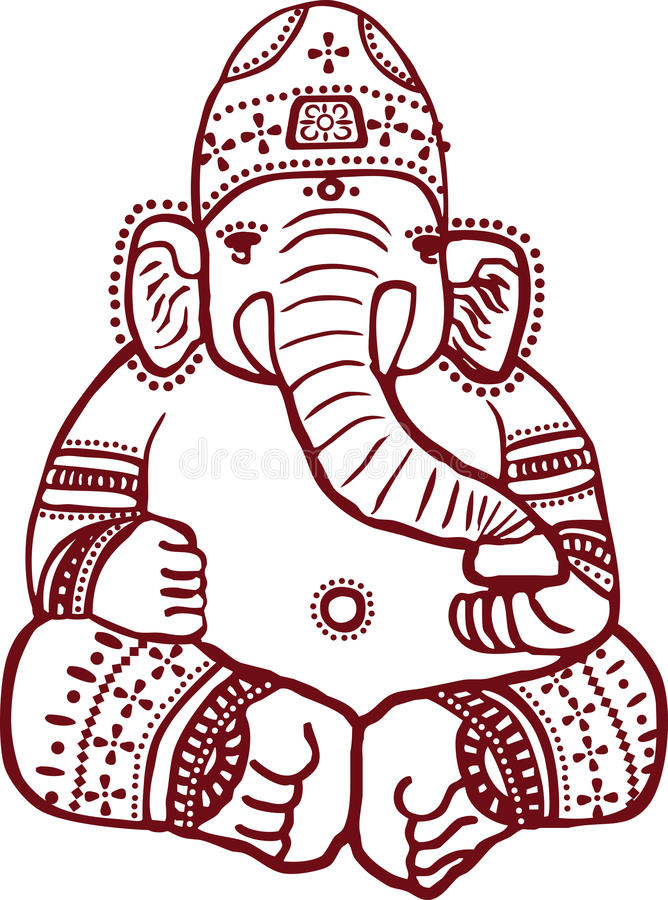 Ganesha stock illustratie