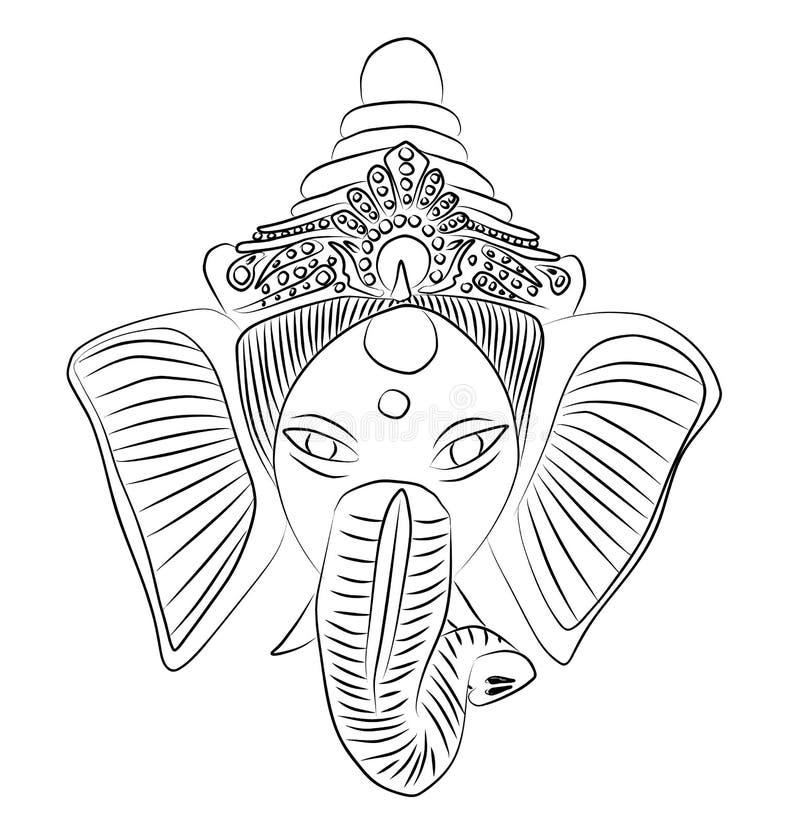 ganesha royalty ilustracja