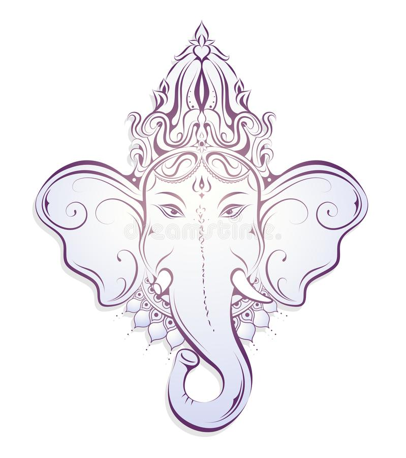 Ganesha Decorative Illustration Stock Vector Illustration Of Asia